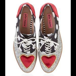 111af7bd337f Silver Multi Betsey Johnson Walker Platform Shoes
